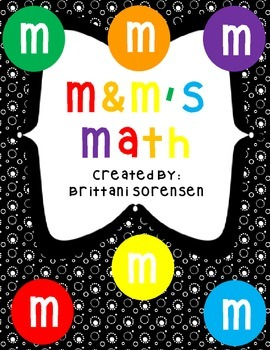 M & M Math Book:Graphing, Add / Subtract, Count By's, 10 Frames, Patterns, etc.