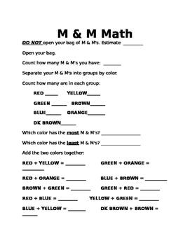 M & M Math Lesson