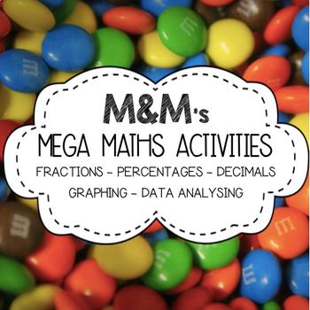 #CHRISTMASINJULY M&M Maths BUNDLE (Fractions, Decimals, Percentages, Graphing)
