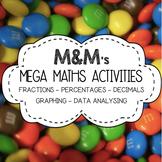 #ausbts18 M&M Maths BUNDLE (Fractions, Decimals, Percentages, Graphing)