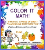 M-M-Mmmm 3 GREAT THANKSGIVING MATH GAMES+PRACTICE!  4pp an