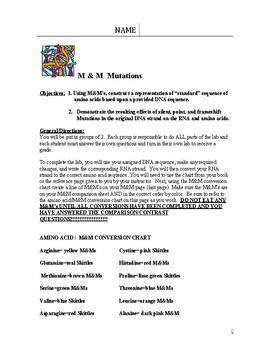 M&M Mutation Lab by Paula's Science Spot | Teachers Pay Teachers
