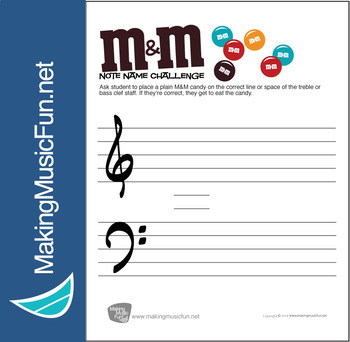 M&M Note Name Challenge | Note Name Worksheet (Digital Print)
