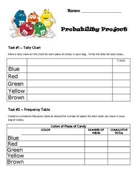 M & M Probability Project