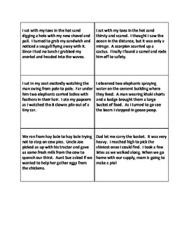 Inferencing Setting Partner Center Game  Infer Common Core Test Prep!