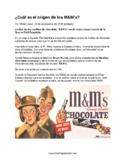 M&M ice breaker activity and mini history lesson