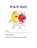 M & M math activity packet