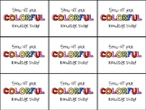 M&M or Skittles Testing Motivation Treat Tag (Show off your colorful knowledge)