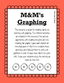 M&M's Graphing - Line Plot & Bar Graph