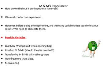 M & M's and the Scientific Method