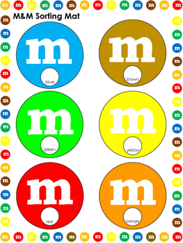 M&M themed Math Worksheets and Writing Pages