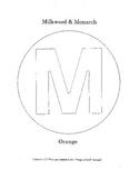M - Milkweed and Monarch Butterflies