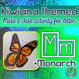M = Monarch Butterfly {Kiwiana Themed 'Make & Take' Alphabet Set}