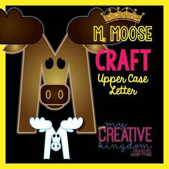 M - Moose Upper Case Alphabet Letter Craft