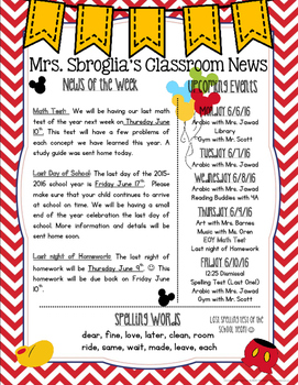 M. Mouse Themed Newsletter