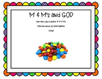 M & M's and GOD - FREEBIE