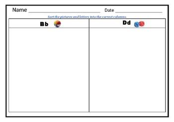 M & N; B & D; C & G; F & TH Sorting Worksheets Bundle