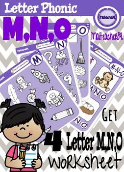 M N O Letter Recognition Worksheets By Maiteacher Mja Tpt