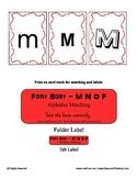 M N O P Letter Alphabet Font Sorting File Folder Resource Literacy Activity