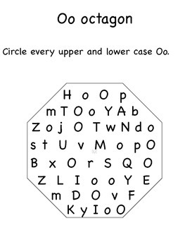 M,N,O,P Upper and Lower Case Letter Search