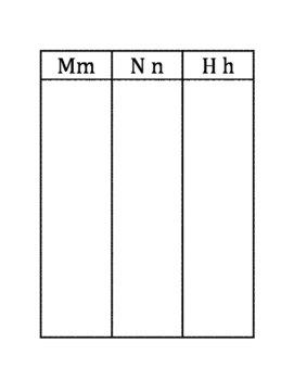 M, N and H Word Sort