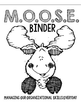 M.O.O.S.E. Binder Cover- Camping/Woodland Theme Companion