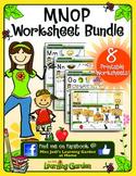 Mm, Nn, Oo & Pp Worksheet Bundle