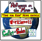 """Refugees on the Move""- Time for Kids (Africa) article with student handout"