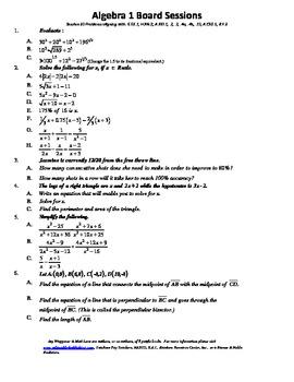 M. S. Algebra Board Session 20,Common Core,Review,Quiz Bow