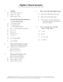 M. S. Algebra Board Session 2,Common Core,Review,Quiz Bowl,Math Counts