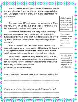 M-STEP ELA 4th grade performace task review