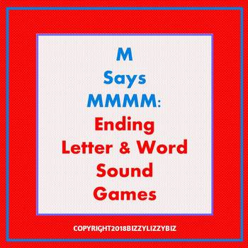 M Says MMMMM: Ending Letter & Word Sound Games