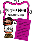 Math M-STEP Word Problems Performance Task Practice Grade 3
