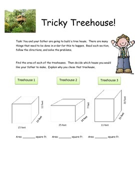 M-Step Math Activity Performance Task: Tricky Treehouse 5th and 6th Grade