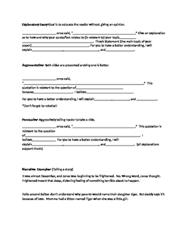 M-Step essay templates