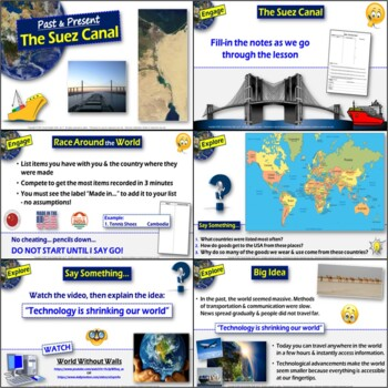 The Suez Canal:Trade in the Middle East through History (5-E Lesson)