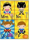 M-Z Super Hero Kids Alphabet Cards