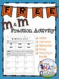 M and M Fraction Activity