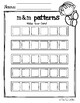 M and M Pattern Worksheet Center