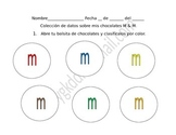 M and M math (fractions, tally marks, bar graph, pie graph