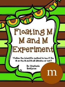 M and Ms Floating M (Science Experiment-Candy)