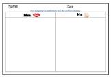 M and N Sorting Worksheet