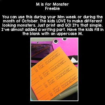 M is for MONSTER! {Freebie Halloween Craft}