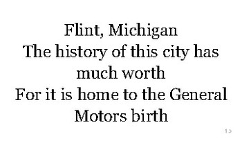 M is for Michigan flash cards