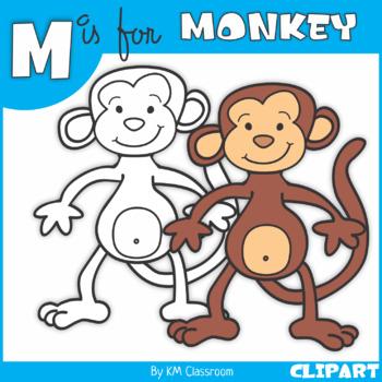 M is for Monkey Clip Art