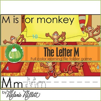 M is for Monkey File Folder Game