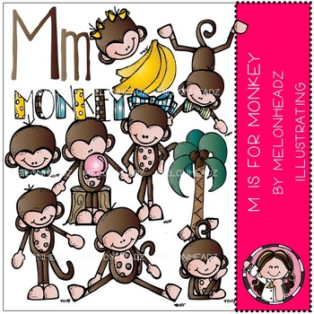 M is for Monkey by Melonheadz COMBO PACK