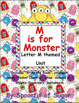 M is for Monster (Letter M themed Unit)