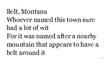 M is for Montana flash cards