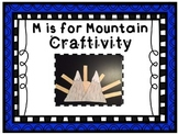 M is for Mountain Phonics Craftivity